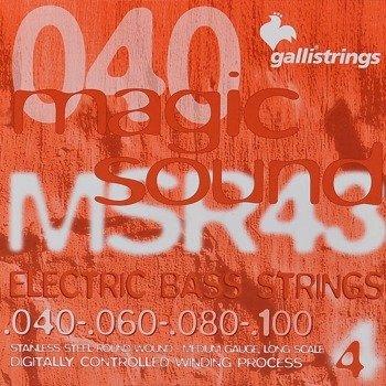 struny do gitary basowej GALLI STRINGS - MAGIC SOUND MSR43 HEXAGONAL /040-100/