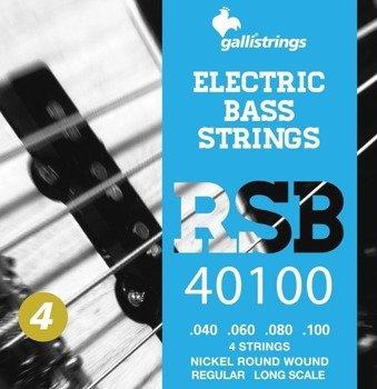 struny do gitary basowej GALLI STRINGS - ROCK STAR RSB43 NICKEL WOUND /040-100/