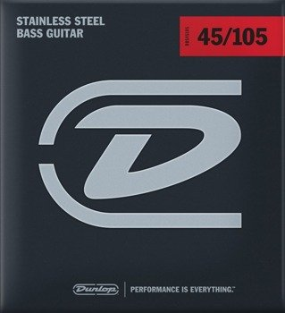 struny do gitary basowej JIM DUNLOP  - STAINLESS STEEL /045-105/ (DBS45105)