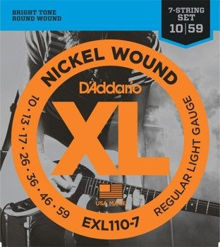 struny do gitary elektrycznej 7str. D'ADDARIO EXL110-7 /010-059/