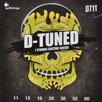 struny do gitary elektrycznej 7str. GALLI STRINGS - D-TUNED D711 obniżony strój /011-060/