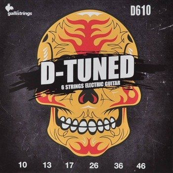 struny do gitary elektrycznej GALLI STRINGS - D-TUNED D610 obniżony strój /010-046/