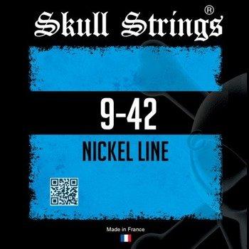 struny do gitary elektrycznej Skull Strings NICKEL Line /009-042/