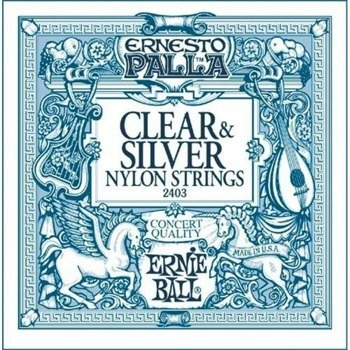 struny do gitary klasycznej ERNIE BALL ERNESTO PALLA Clear Nylon, Normal Tension EB2403 /028-042/