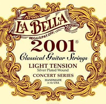 "struny do gitary klasycznej LA BELLA 2001L ""CONCERT"" Light Tension"