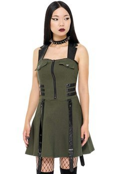 sukienka KILLSTAR - PSY-OPS (KHAKI)