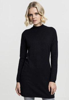 sweter LADIES OVERSIZED TURTLENECH DRESS black