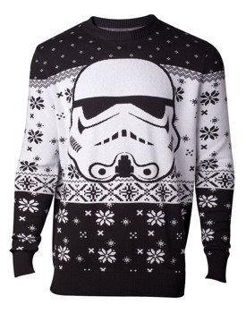 sweter STAR WARS - STORMTROOPER HEAD KNITTED CHRISTMAS SWEATER