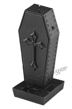 świeca COFFIN WITH CROSS BLACK MATT