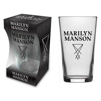 szklanka do piwa MARILYN MANSON - LOGO