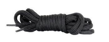 sznurowadła okrągłe CZARNE dł.160 cm / śr. 5mm buty 10 - dziurowe