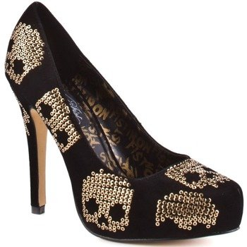 szpilki IRON FIST - GOLD STAR POINTED PLATFORM (BLACK/GOLD)