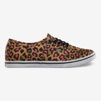 trampki damskie VANS  - AUTHENTIC LO PRO LEOPARD BLACK MAGENTA