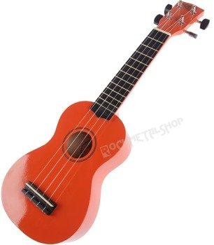 ukulele sopranowe KORALA pomarańczowe + pokrowiec