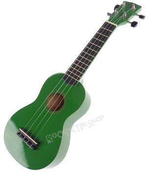 ukulele sopranowe KORALA zielone + pokrowiec