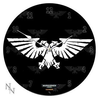 zegar WARHAMMER 40.000 - IMPERIAL AGUILA, szklany