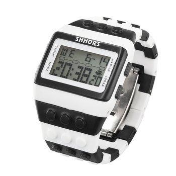 zegarek SHHORS LED WHITE BLACK