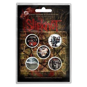 zestaw 5 szt. przypinek SLIPKNOT - ALBUMS