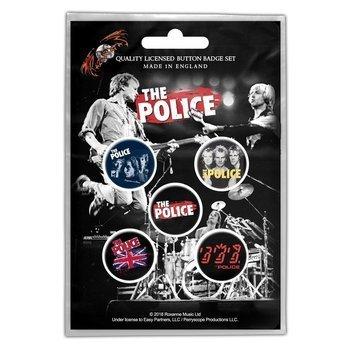 zestaw 5 szt. przypinek THE POLICE - VARIOUS
