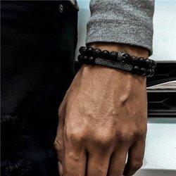 bransoletka GOTHIC BLACK, zestaw 2 bransoletki