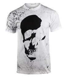 koszulka AMENOMEN - SKULL (OMEN035KM WHITE ALLPRINT BLACK)
