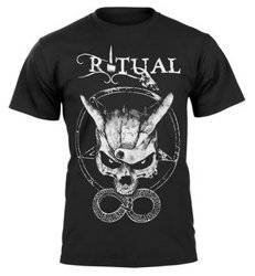 koszulka RITUAL 13 - MANO CORNUTA SKULL