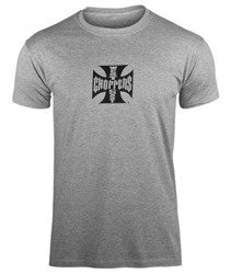 koszulka WEST COAST CHOPPERS - IRON CROSS ATX GRAY