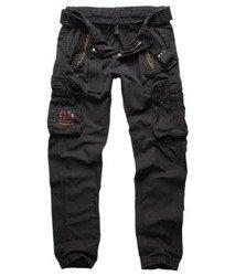 spodnie bojówki ROYAL TRAVELER SLIMMY - ROYALBLACK