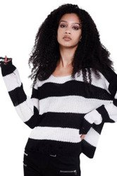 sweter KILL STAR - CASEY (BLACK/WHITE)