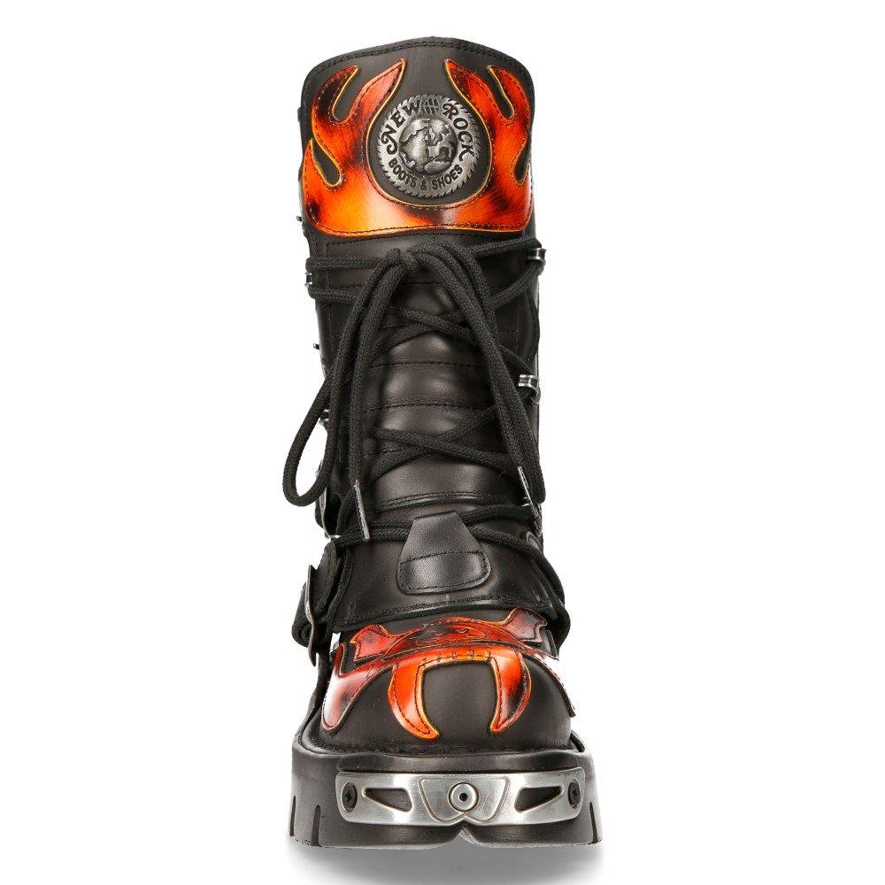 buty NEW ROCK 107 Itali Negro y Pulik Fuego, Reactor Negro