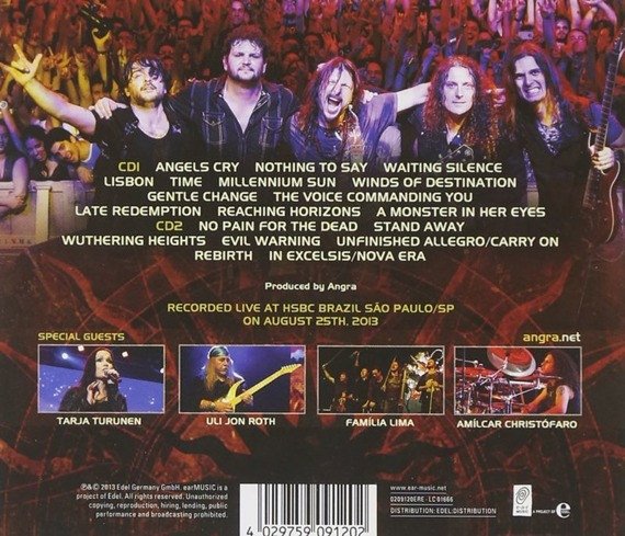 ANGRA: ANGELS CRY - 20TH ANNIVERSARY TOUR (2CD)