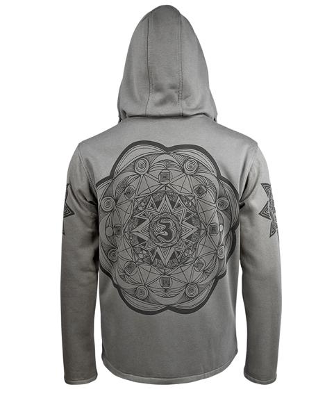 bluza BUDDHAFUL - MANTALA grey rozpinana, z kapturem