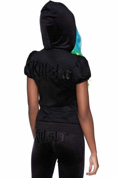 bluza damska KILLSTAR - DEE-LUX, rozpinana z kapturem