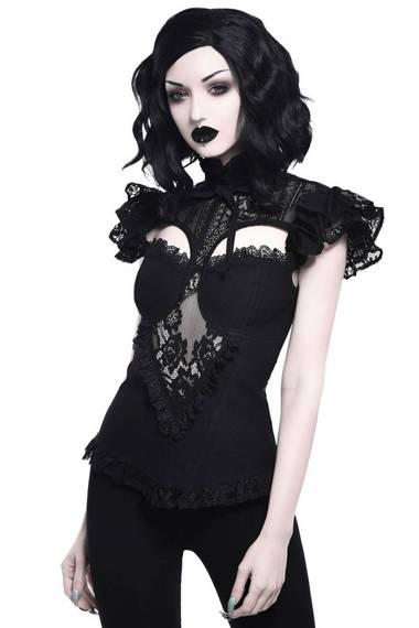 bluzka damska KILLSTAR - AVALYN (BLACK)