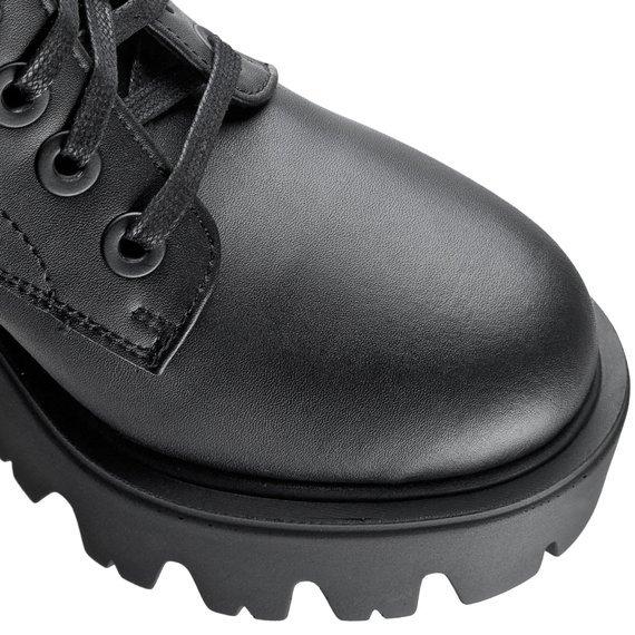 botki damskie ALTERCORE czarne (ELLA VEGAN BLACK)