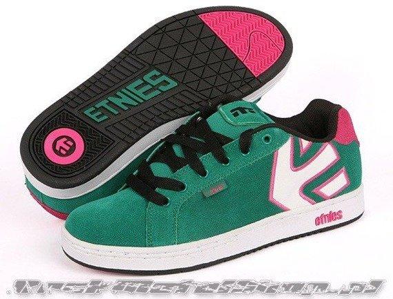 buty damskie ETNIES - FADER (GREEN/WHITE/BLACK) 09'