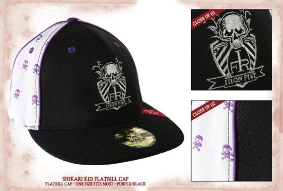 czapka IRON FIST (SHIKARI FLATBILL  BLACK/PURPLE)