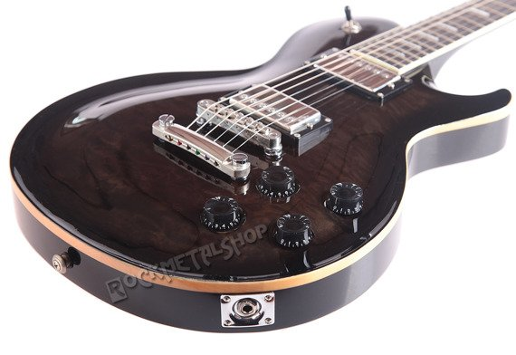 gitara elektryczna J&D BROTHERS LP STYLE Quilted Maple LP1000QM BK