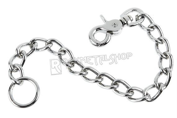 gruby łańcuch do kluczy/portfela (30 cm) z karabińczykiem NR 2