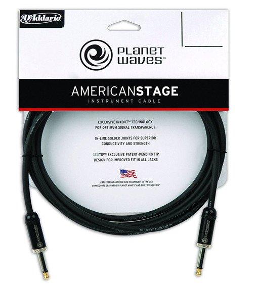 kabel gitarowy 6,10 m PLANET WAVES AMERICAN STAGE jack prosty/prosty (PW-AMSG-20)