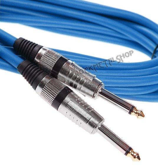 kabel gitarowy BOSTON GC-103-6BU BLUE 6m jack prosty/prosty