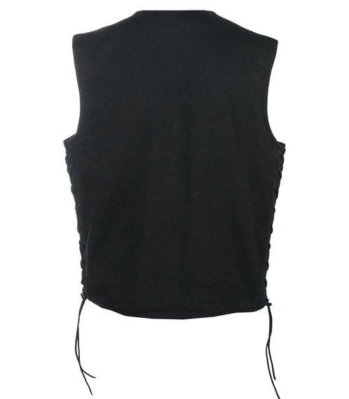 kamizelka UNIK 3,  black jeansowa  z bocznymi rzemieniami