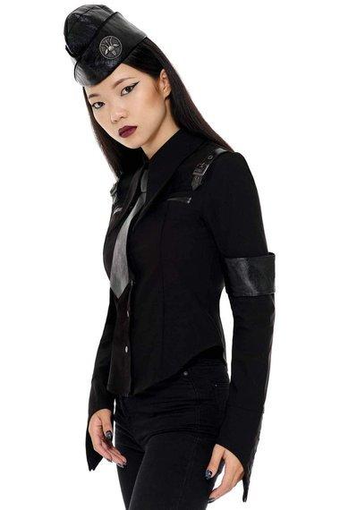 koszula damska KILLSTAR  - SECRET MISSION (BLACK)