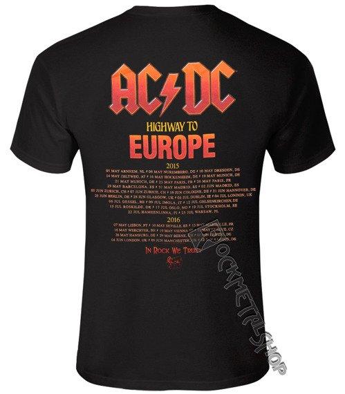 koszulka AC/DC - ANGUS HIGHWAY TO EUROPE
