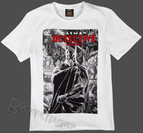 koszulka BATMAN - REAL CAPE biała