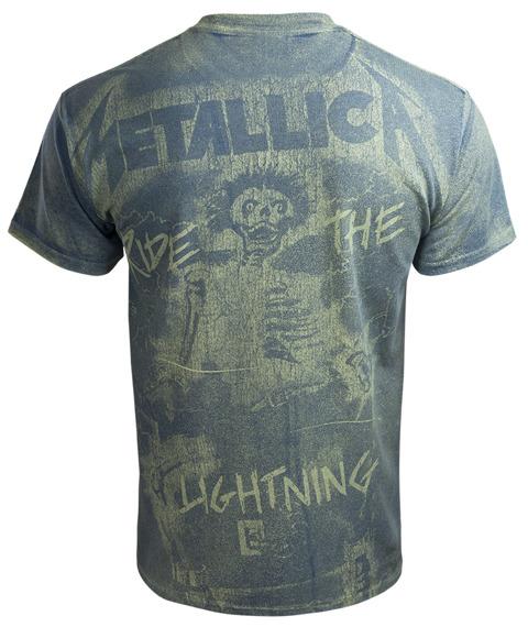 koszulka METALLICA - RIDE THE LIGHTNING indygo, Allprint