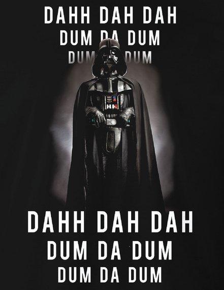 koszulka STAR WARS - DAHH DAH DAH czarna