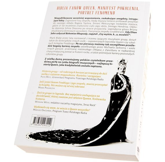 książka QUEEN - KRÓLEWSKA HISTORIA  autor: Mark Blake