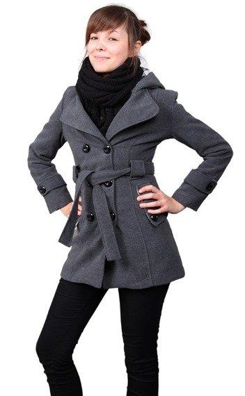 kurtka damska z kapturem (GREY)