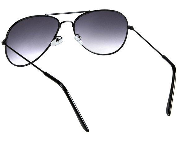 okulary przeciwsłoneczne AVIATOR BLACK (cieniowane)